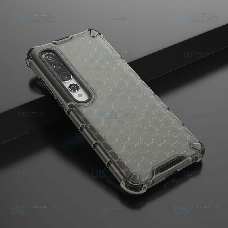 قاب محافظ لانه زنبوری شیائومی Shockproof Honeycomb Air Rubber Case For Xiaomi Mi 10 / Mi 10 Pro