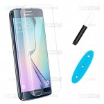 محافظ صفحه شیشه ای تمام صفحه و خمیده یو وی سامسونگ UV Full Glass Screen Protector Samsung Galaxy S6 edge