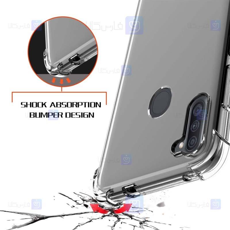 قاب محافظ ژله ای کپسول دار 5 گرمی سامسونگ Clear Tpu Air Rubber Jelly Case For Samsung Galaxy A11