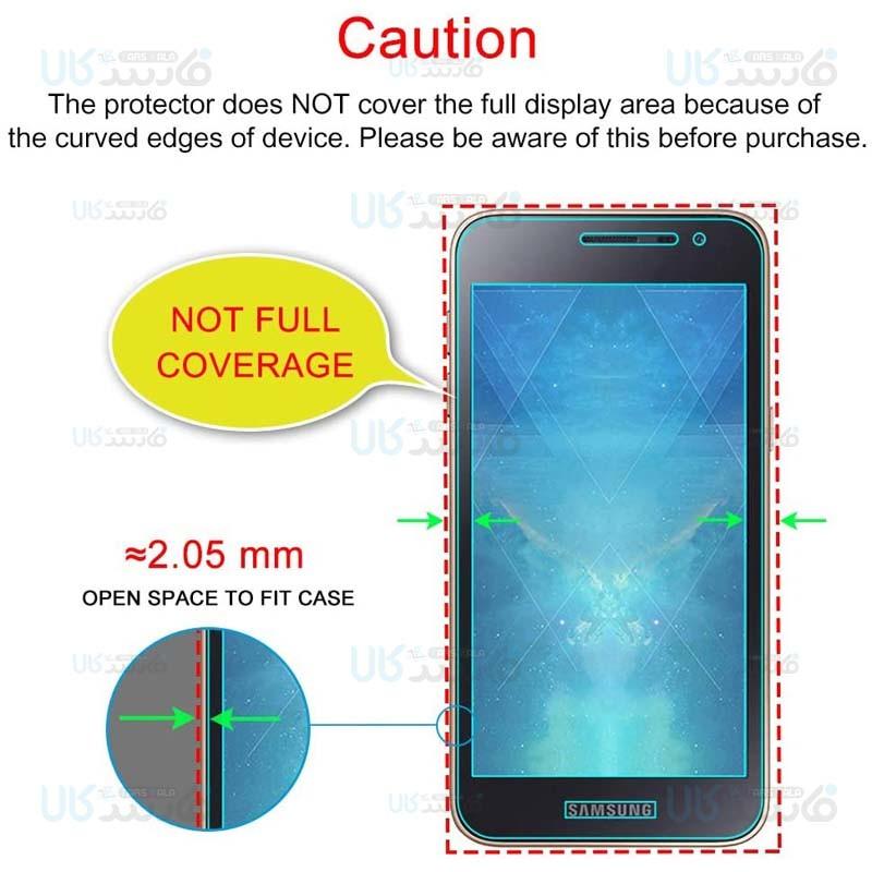 محافظ صفحه نمایش تمام چسب با پوشش کامل سامسونگ Full Glass Screen Protector For Samsung Galaxy J2 Core 2020