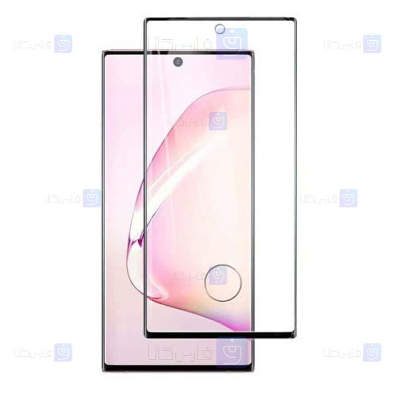 محافظ صفحه نمایش تمام چسب با پوشش کامل سامسونگ با برش اثر انگشت Full Glass Screen Protector For Samsung Galaxy Note 20 Ultra