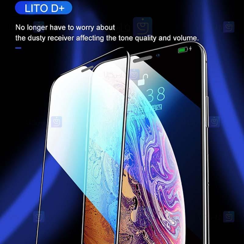 محافظ صفحه نمایش تمام چسب با پوشش کامل لیتو اپل LITO D+ Dustproof Screen Protector For Apple iPhone X / XS / 11 Pro