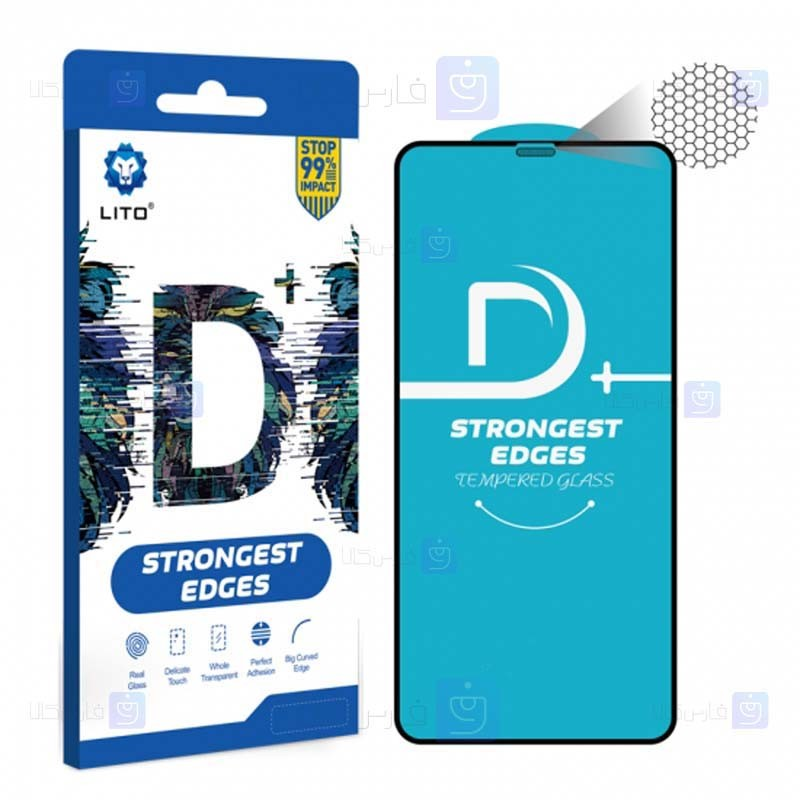 محافظ صفحه نمایش تمام چسب با پوشش کامل لیتو اپل LITO D+ Dustproof Screen Protector For Apple iPhone XS Max / 11 Pro Max