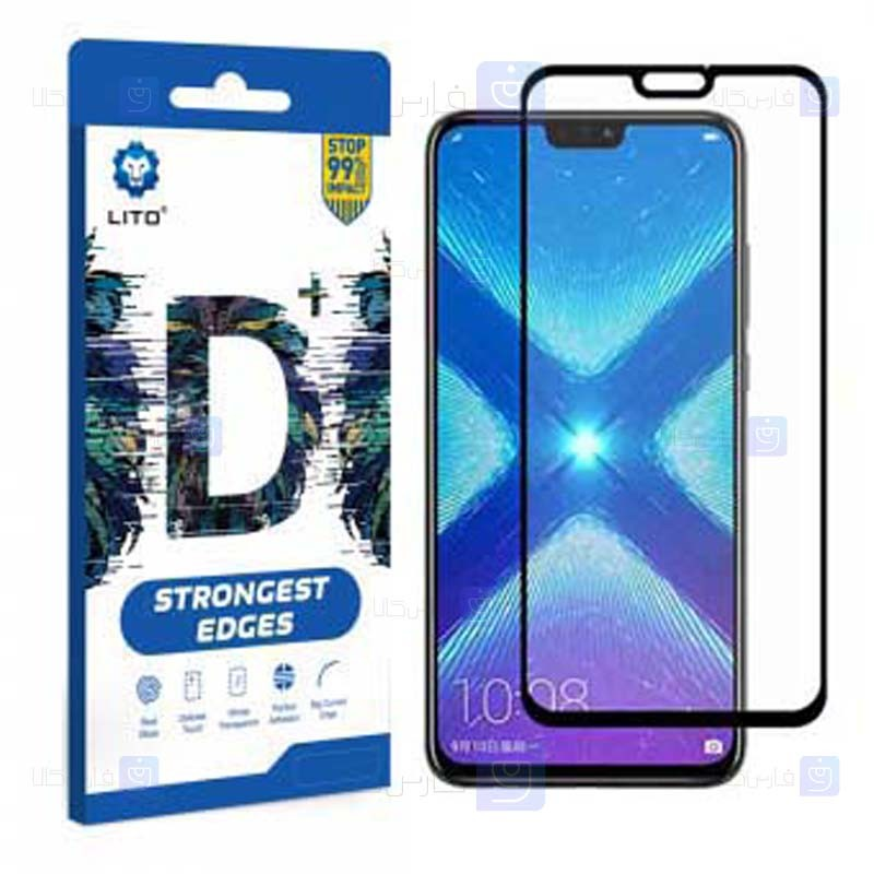 محافظ صفحه نمایش تمام چسب با پوشش کامل لیتو هواوی LITO D+ Dustproof Screen Protector For Huawei Honor 8X