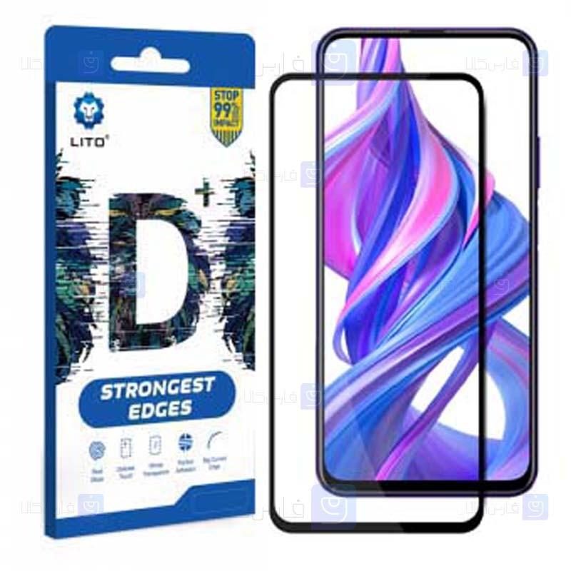 محافظ صفحه نمایش تمام چسب با پوشش کامل لیتو هواوی LITO D+ Dustproof Screen Protector For Huawei Honor 9X Honor 9X Pro