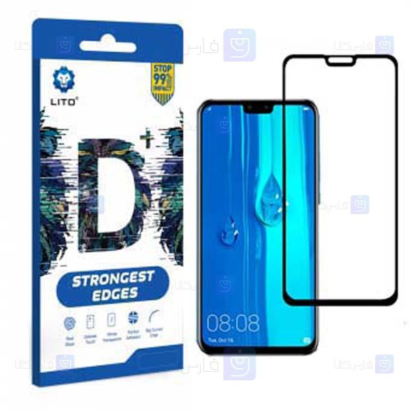 محافظ صفحه نمایش تمام چسب با پوشش کامل لیتو هواوی LITO D+ Dustproof Screen Protector For Huawei Y9 2019