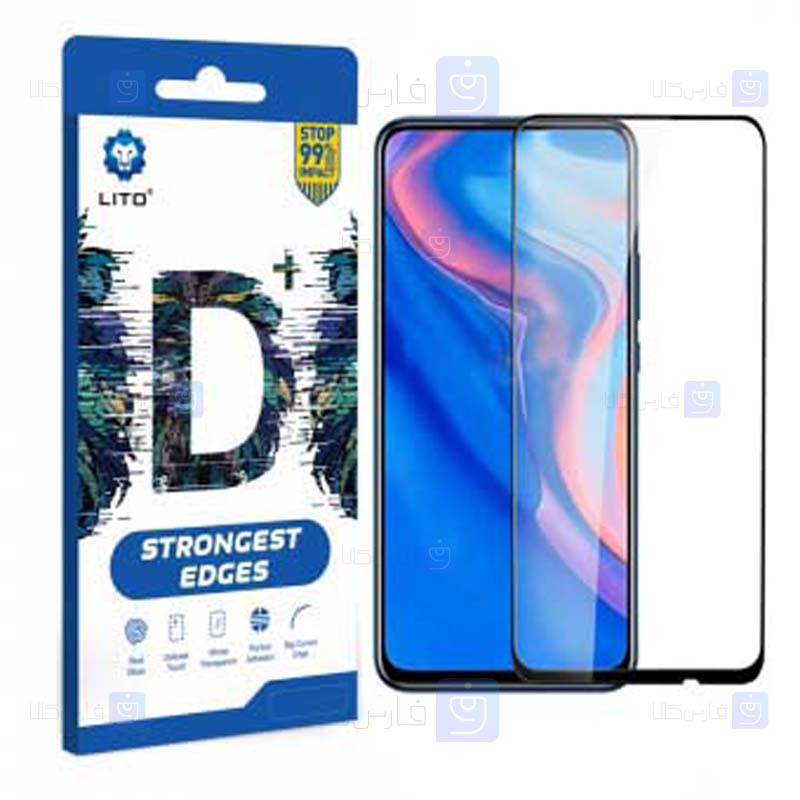 محافظ صفحه نمایش تمام چسب با پوشش کامل لیتو هواوی LITO D+ Dustproof Screen Protector For Huawei Y9 Prime 2019 P Smart Z 2019