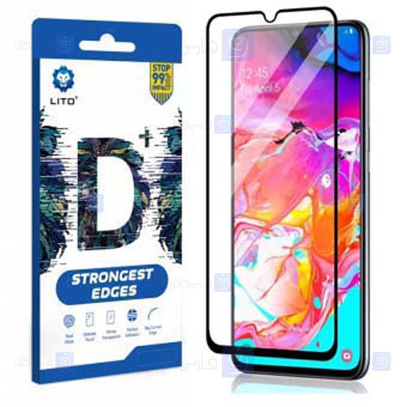 محافظ صفحه نمایش تمام چسب با پوشش کامل لیتو سامسونگ LITO D+ Dustproof Screen Protector For Samsung Galaxy A70 A70s
