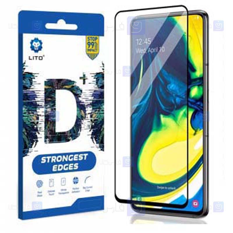 محافظ صفحه نمایش تمام چسب با پوشش کامل لیتو سامسونگ LITO D+ Dustproof Screen Protector For Samsung Galaxy A80 A90