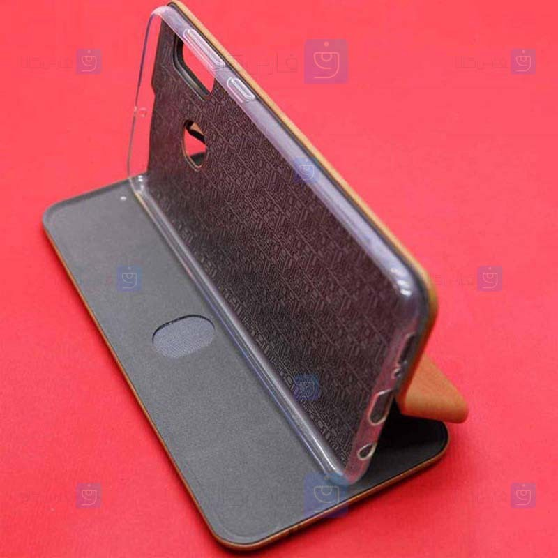 کیف محافظ چرمی سامسونگ Leather Standing Magnetic Cover For Samsung Galaxy A20s
