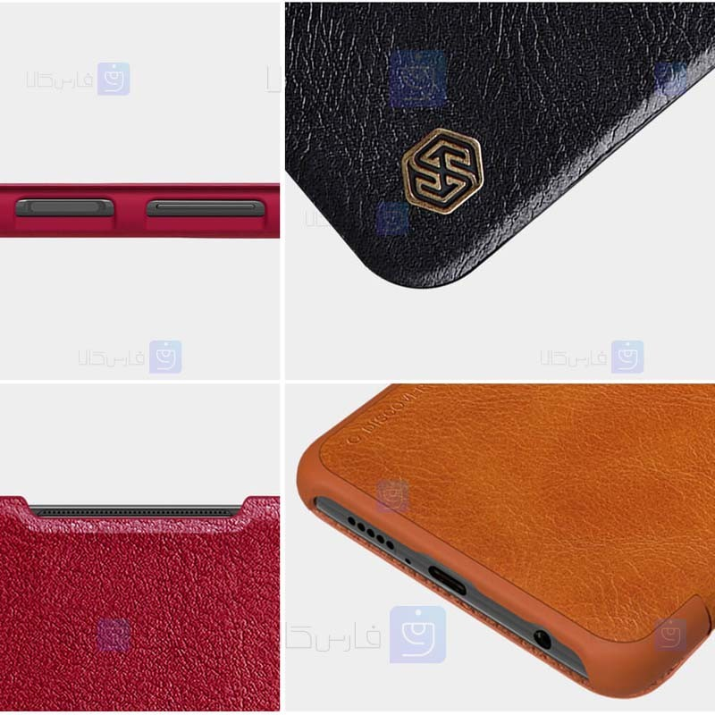 کیف محافظ چرمی نیلکین شیائومی Nillkin Qin Case For Xiaomi Poco X3 NFC