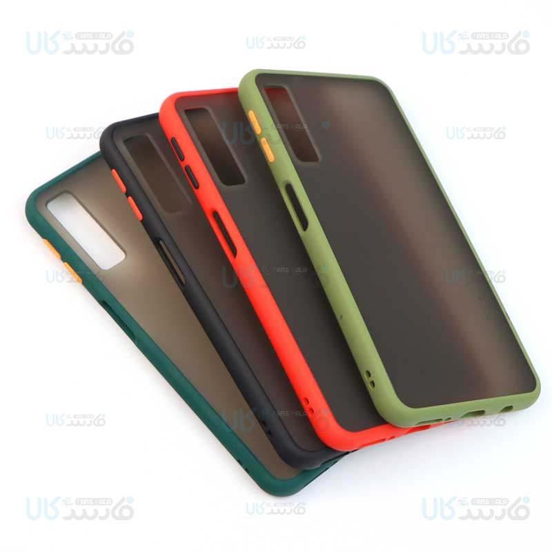 قاب محافظ مات سامسونگ Transparent Hybrid Case Samsung Galaxy A7 2018