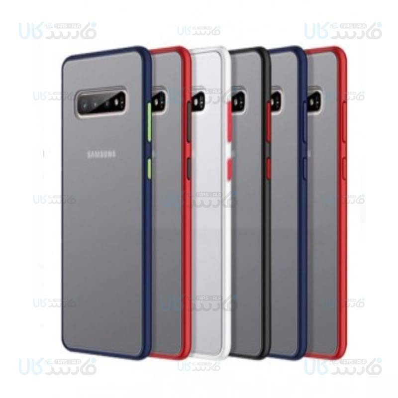 قاب محافظ مات سامسونگ Transparent Hybrid Case Samsung Galaxy S10 Plus
