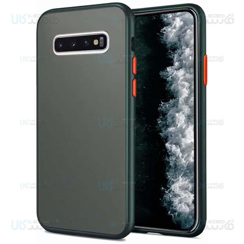 قاب محافظ مات سامسونگ Transparent Hybrid Case Samsung Galaxy S10 Plus
