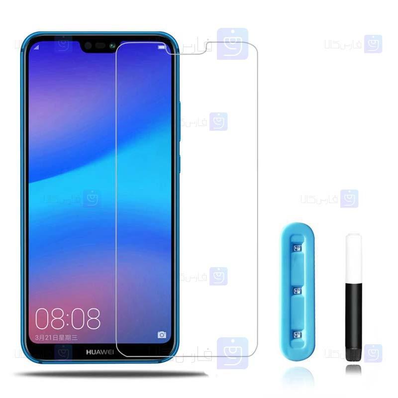 محافظ صفحه شیشه ای تمام صفحه و خمیده یو وی هواوی UV Full Glass Screen Protector Huawei P20 Lite