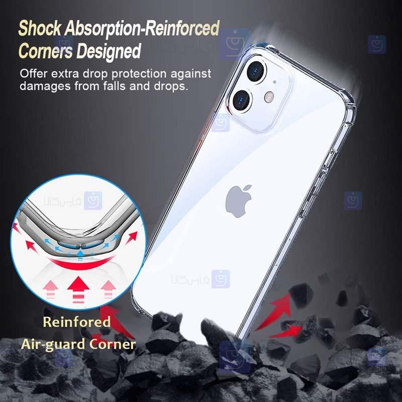 قاب محافظ ژله ای کپسول دار 5 گرمی اپل Clear Tpu Air Rubber Jelly Case For Apple iPhone 12