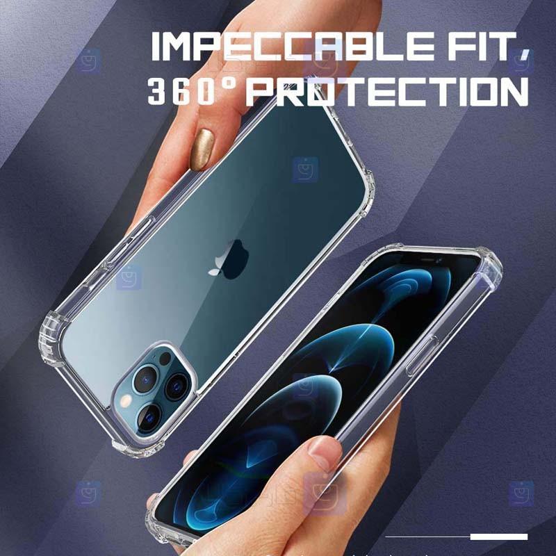 قاب محافظ ژله ای کپسول دار 5 گرمی اپل Clear Tpu Air Rubber Jelly Case For Apple iPhone 12 Pro Max