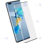 محافظ صفحه نمایش تمام چسب با پوشش کامل هواوی Full Glass Screen Protector For Huawei Mate 40 Pro Plus