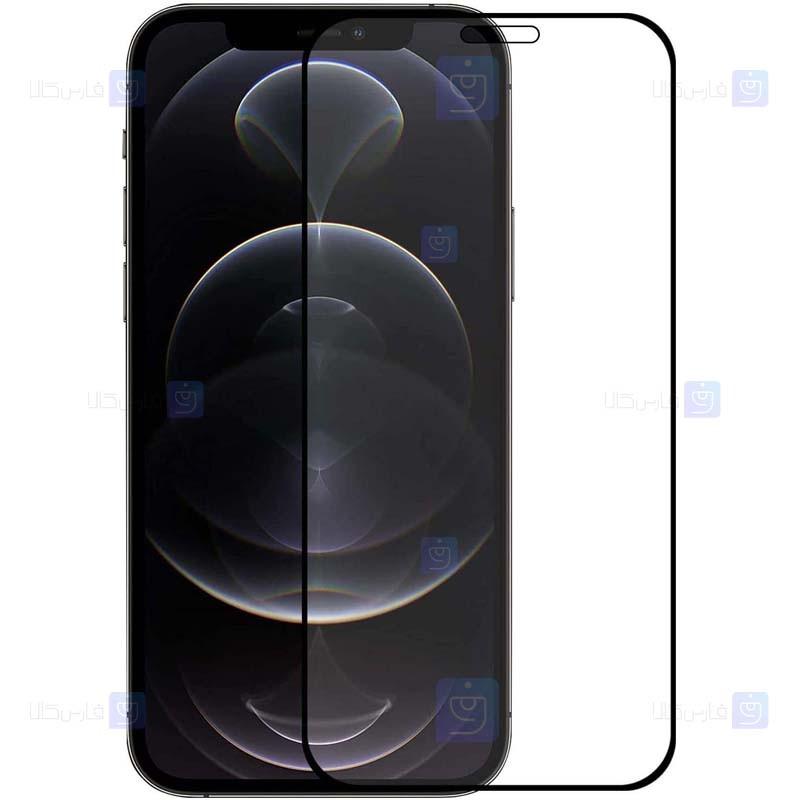 محافظ صفحه نمایش مات تمام چسب با پوشش کامل اپل Full Matte Glass Screen Protector For Apple iPhone 12 / 12 Pro