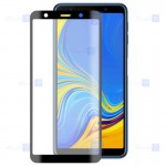 محافظ صفحه نمایش مات تمام چسب با پوشش کامل سامسونگ Full Matte Glass Screen Protector For Samsung Galaxy A7 2018