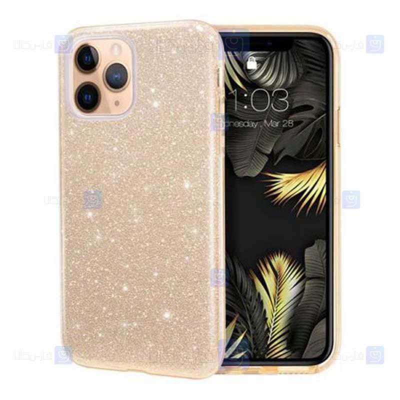 قاب ژله ای اکلیلی اپل Glitter Gradient Color Alkyd Jelly Case Apple iPhone 11 Pro Max