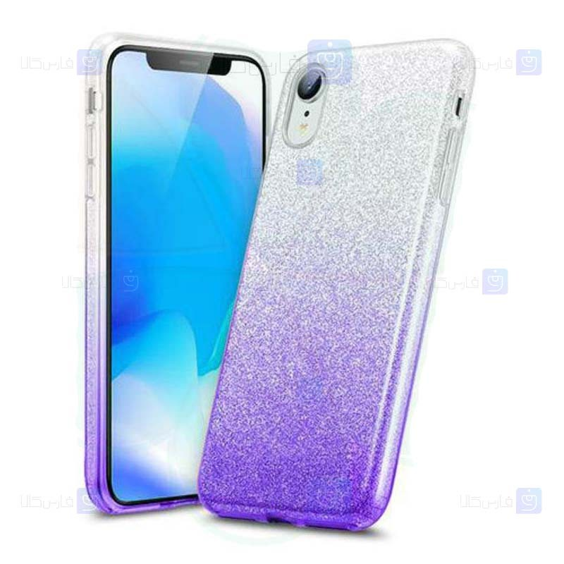 قاب ژله ای اکلیلی اپل Glitter Gradient Color Alkyd Jelly Case Apple iPhone XR