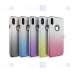قاب ژله ای اکلیلی اپل Glitter Gradient Color Alkyd Jelly Case Apple iPhone Xs Max