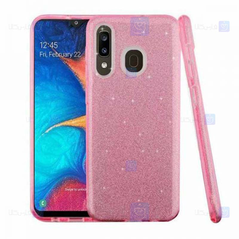 قاب ژله ای اکلیلی سامسونگ Glitter Gradient Color Alkyd Jelly Case Samsung Galaxy A10s