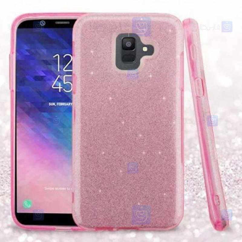 قاب ژله ای اکلیلی سامسونگ Glitter Gradient Color Alkyd Jelly Case Samsung Galaxy A6 2018