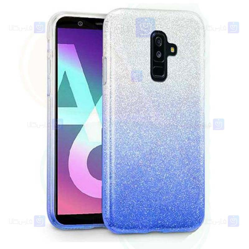قاب ژله ای اکلیلی سامسونگ Glitter Gradient Color Alkyd Jelly Case Samsung Galaxy A6 Plus 2018