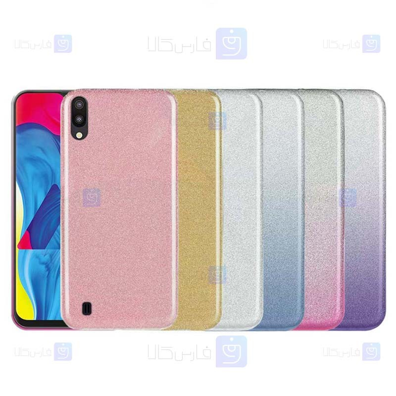 قاب ژله ای اکلیلی سامسونگ Glitter Gradient Color Alkyd Jelly Case Samsung Galaxy M10