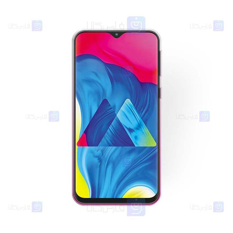 قاب ژله ای اکلیلی سامسونگ Glitter Gradient Color Alkyd Jelly Case Samsung Galaxy M10