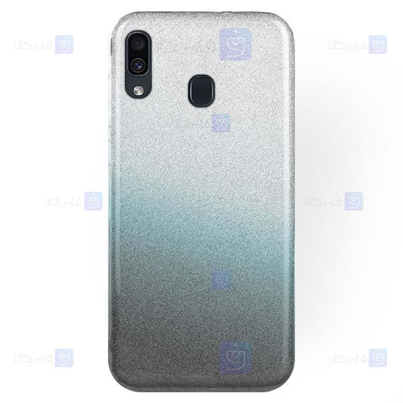 قاب ژله ای اکلیلی سامسونگ Glitter Gradient Color Alkyd Jelly Case Samsung Galaxy M20