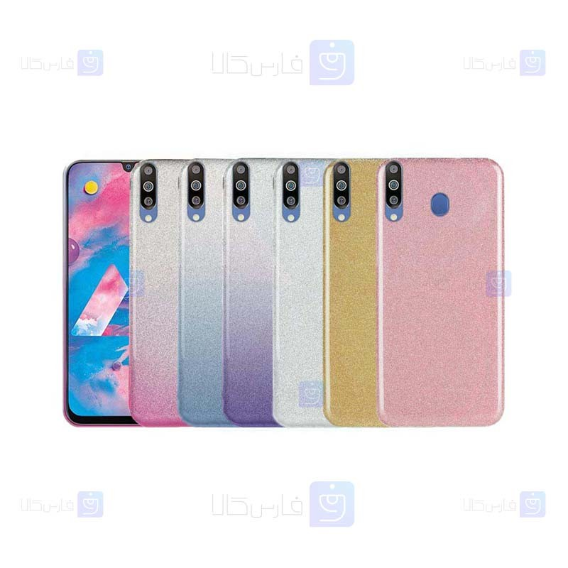 قاب ژله ای اکلیلی سامسونگ Glitter Gradient Color Alkyd Jelly Case Samsung Galaxy M30