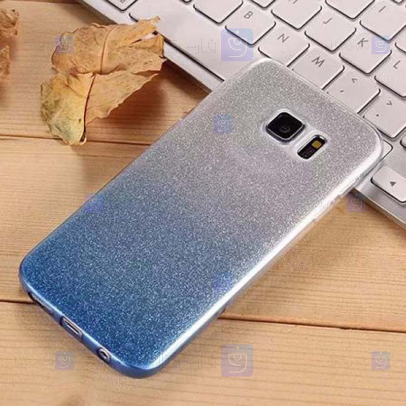 قاب ژله ای اکلیلی سامسونگ Glitter Gradient Color Alkyd Jelly Case Samsung Galaxy Note 5