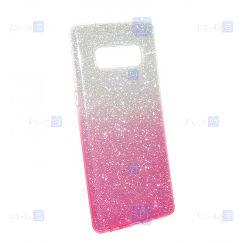قاب ژله ای اکلیلی سامسونگ Glitter Gradient Color Alkyd Jelly Case Samsung Galaxy Note 8