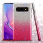 قاب ژله ای اکلیلی سامسونگ Glitter Gradient Color Alkyd Jelly Case Samsung Galaxy S10