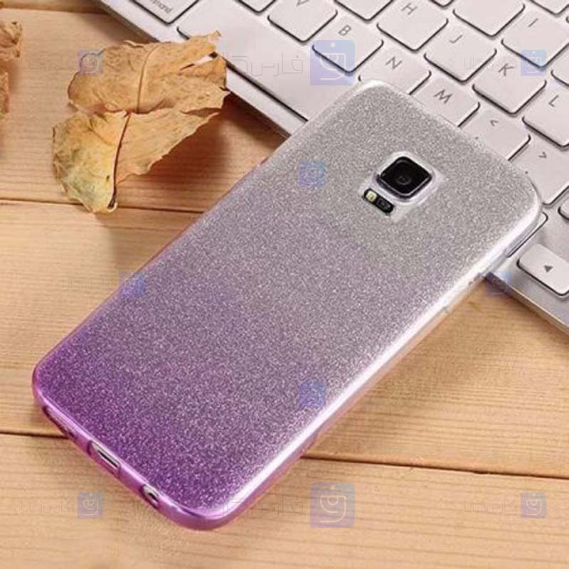 قاب ژله ای اکلیلی سامسونگ Glitter Gradient Color Alkyd Jelly Case Samsung Galaxy S5
