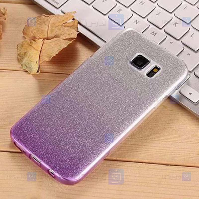 قاب ژله ای اکلیلی سامسونگ Glitter Gradient Color Alkyd Jelly Case Samsung Galaxy S7