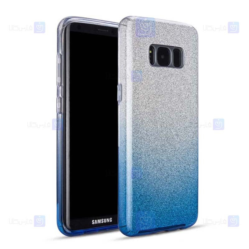 قاب ژله ای اکلیلی سامسونگ Glitter Gradient Color Alkyd Jelly Case Samsung Galaxy S8
