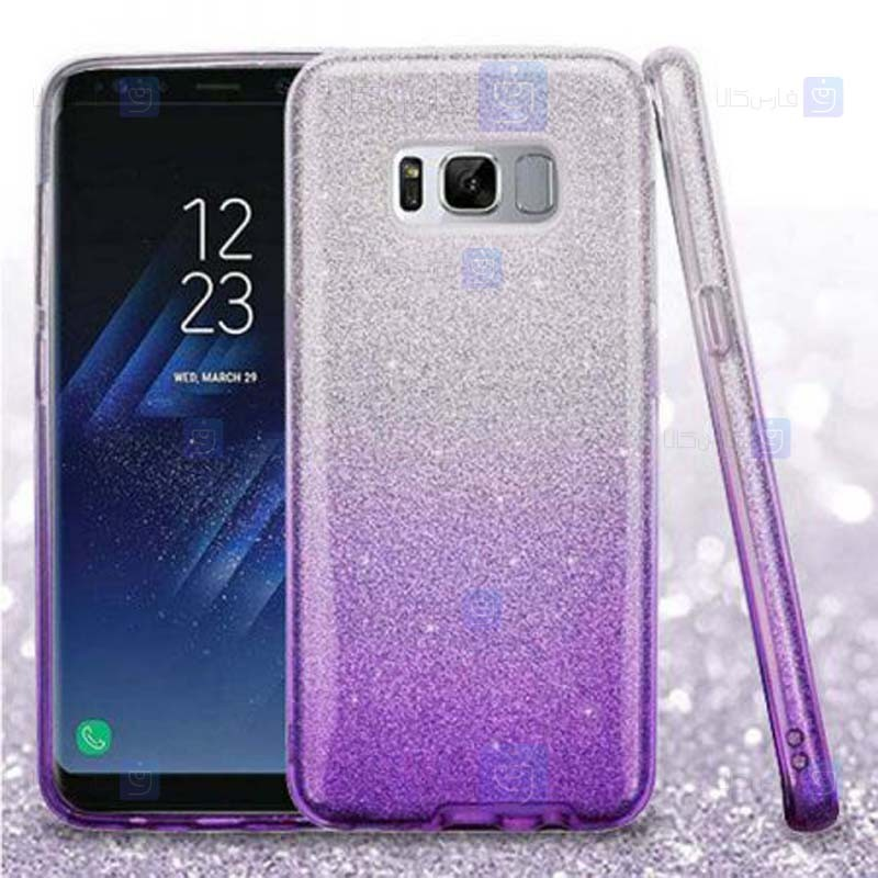 قاب ژله ای اکلیلی سامسونگ Glitter Gradient Color Alkyd Jelly Case Samsung Galaxy S8