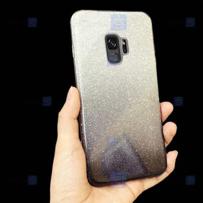 قاب ژله ای اکلیلی سامسونگ Glitter Gradient Color Alkyd Jelly Case Samsung Galaxy S9