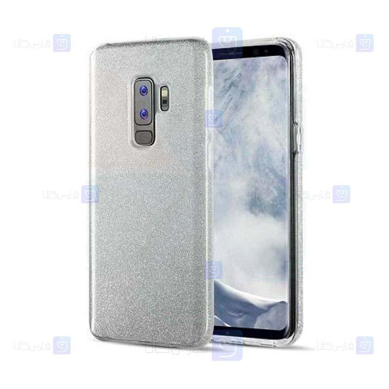 قاب ژله ای اکلیلی سامسونگ Glitter Gradient Color Alkyd Jelly Case Samsung Galaxy S9 Plus