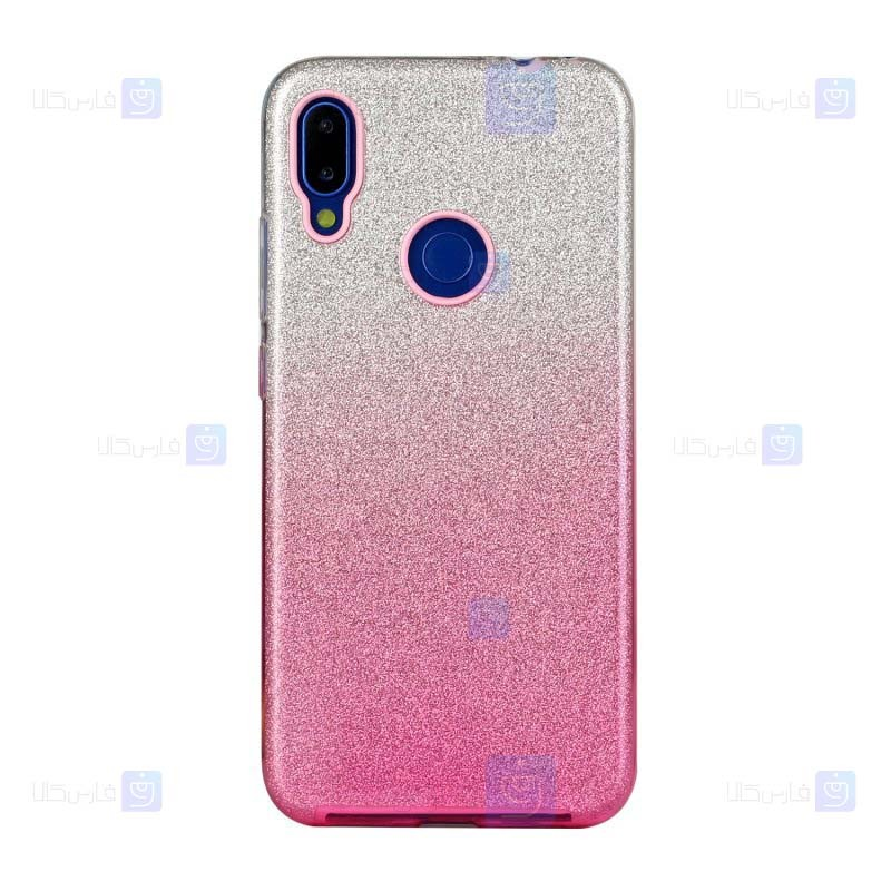 قاب ژله ای اکلیلی شیائومی Glitter Gradient Color Alkyd Jelly Case Xiaomi Redmi Note 7 Note 7 Pro