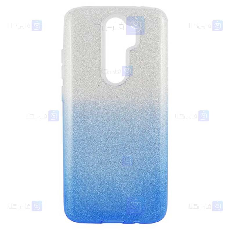 قاب ژله ای اکلیلی شیائومی Glitter Gradient Color Alkyd Jelly Case Xiaomi Redmi Note 8 Pro