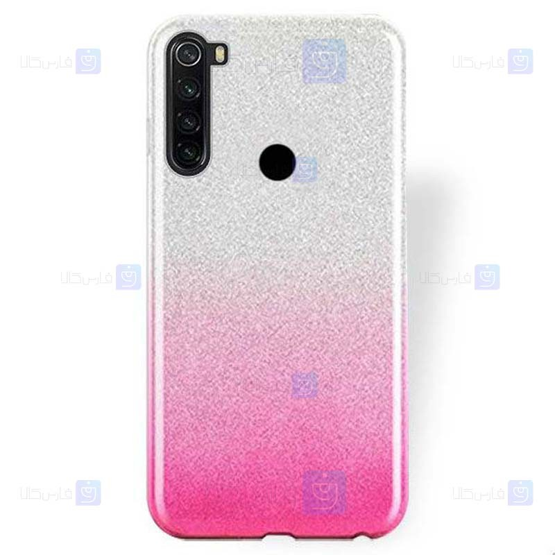 قاب ژله ای اکلیلی شیائومی Glitter Gradient Color Alkyd Jelly Case Xiaomi Redmi Note 8T