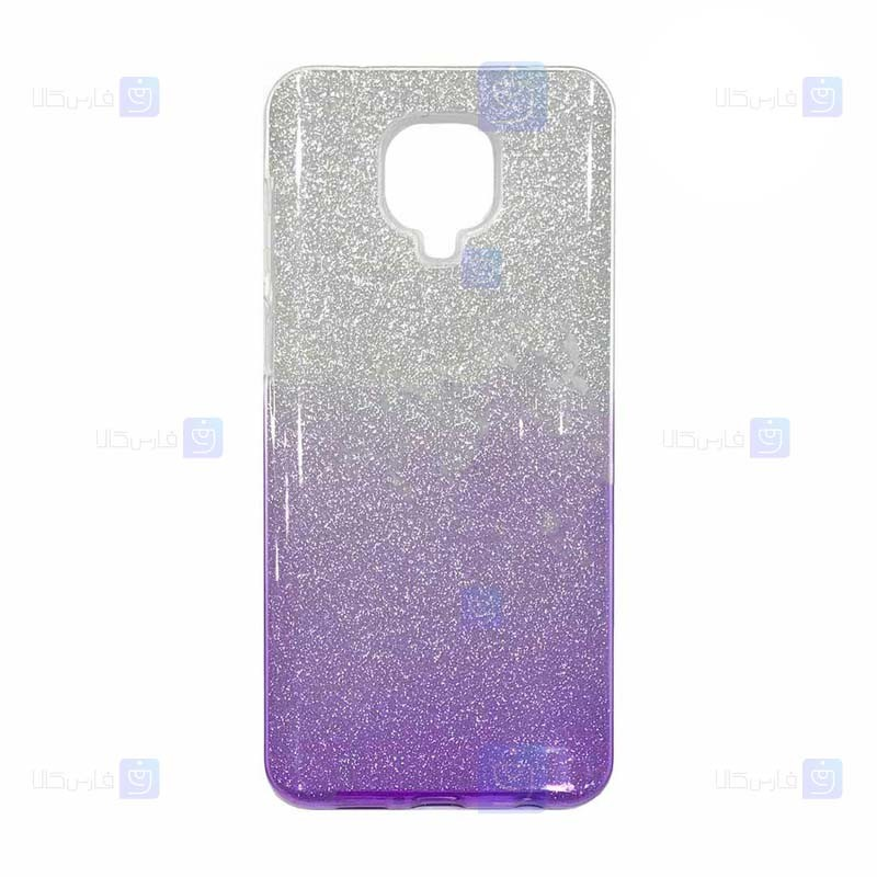 قاب ژله ای اکلیلی شیائومی Glitter Gradient Color Alkyd Jelly Case Xiaomi Redmi Note 9 Pro Note 9 Pro Max Note 9S
