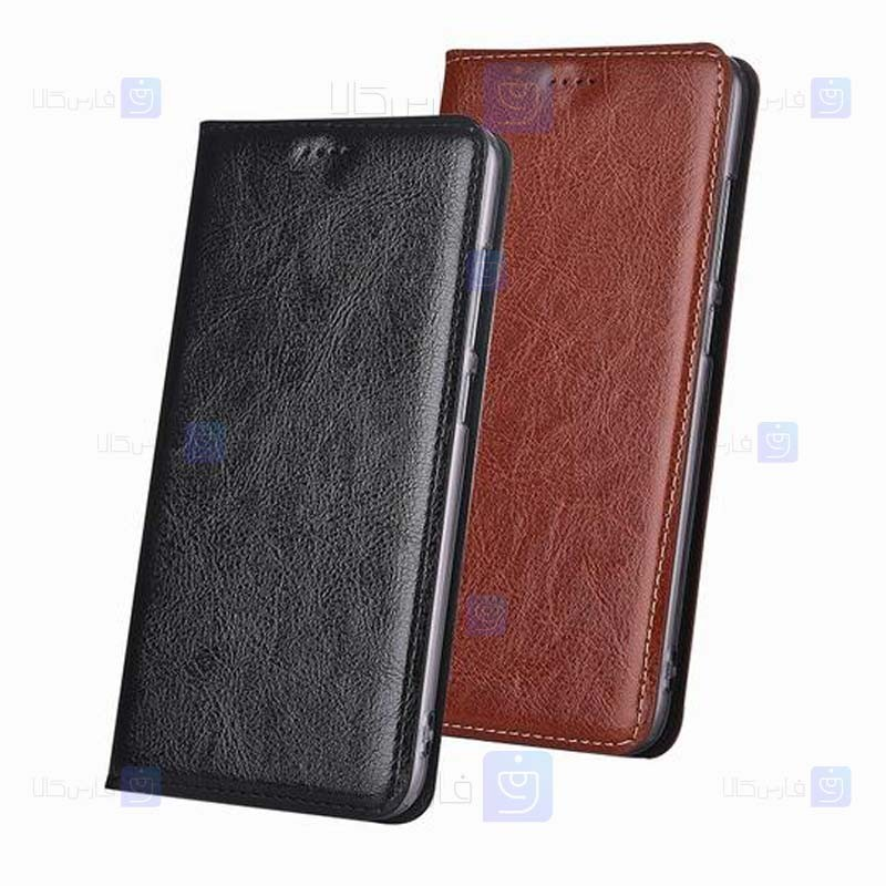 کیف محافظ چرمی بلک بری Leather Standing Cover For BlackBerry Priv