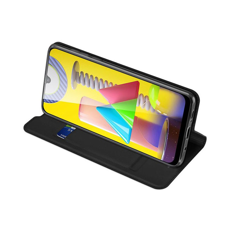کیف محافظ چرمی سامسونگ Leather Standing Magnetic Cover For Samsung Galaxy M31