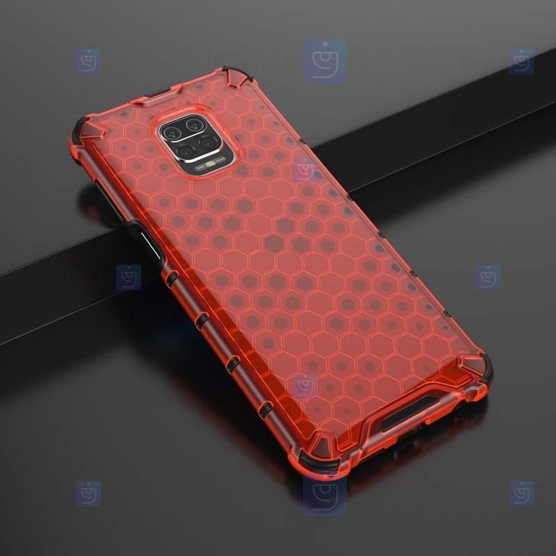 قاب محافظ لانه زنبوری شیائومی Shockproof Honeycomb Air Rubber Case For Xiaomi Redmi Note 9 Pro Note 9 Pro Max Note 9S